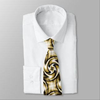 Black and Gold Swirls Tie