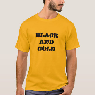 BLACK AND GOLD TEE   7