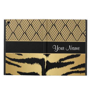 Black and Gold Tiger Animal Pattern iPad Air Covers