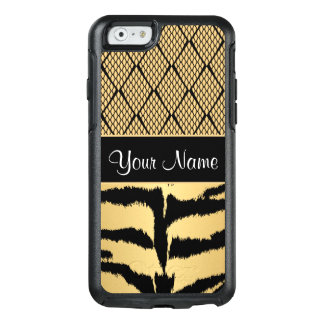 Black and Gold Tiger Animal Pattern OtterBox iPhone 6/6s Case