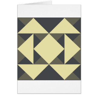 Black and gold triangles card