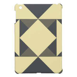 Black and gold triangles cover for the iPad mini