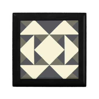 Black and gold triangles gift box