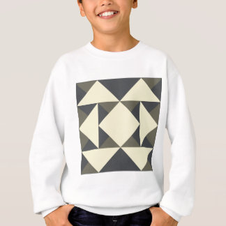 Black and gold triangles sweatshirt