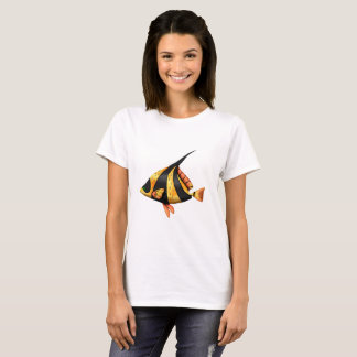 Black and gold tropical angle fish T-Shirt