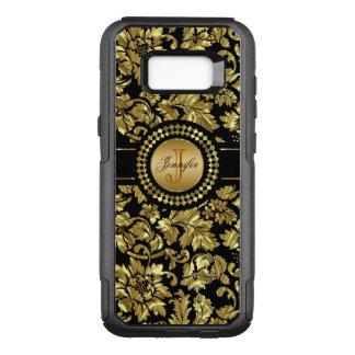 Black And Gold Vintage Damasks Monogram OtterBox Commuter Samsung Galaxy S8+ Case