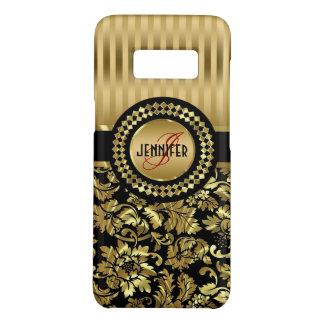 Black And Gold Vintage Floral Damasks Case-Mate Samsung Galaxy S8 Case