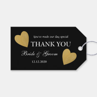 Black And Gold Wedding Thank You