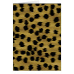 Black and Golden Brown Cheetah Print Pattern.