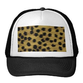 Black and Golden Brown Cheetah Print Pattern. Cap