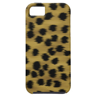 Black and Golden Brown Cheetah Print Pattern. iPhone 5 Case