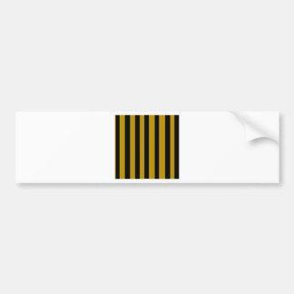 Black and golden stripes bumper sticker