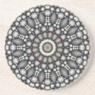 Black And Gray Abstract Coaster