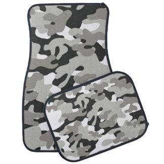 Black And Gray Camouflage Car Mats