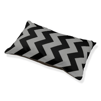 Black And Gray Chevron Pattern Dog Bed