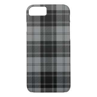 Black and Gray Clan Douglas Tartan iPhone 8/7 Case