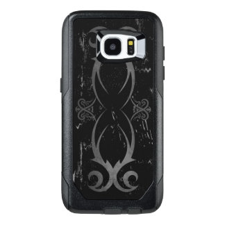 Black and Gray Cool Grunge Tribal Tattoo Design OtterBox Samsung Galaxy S7 Edge Case