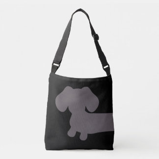 Black and Gray Dachshund Tote Bag