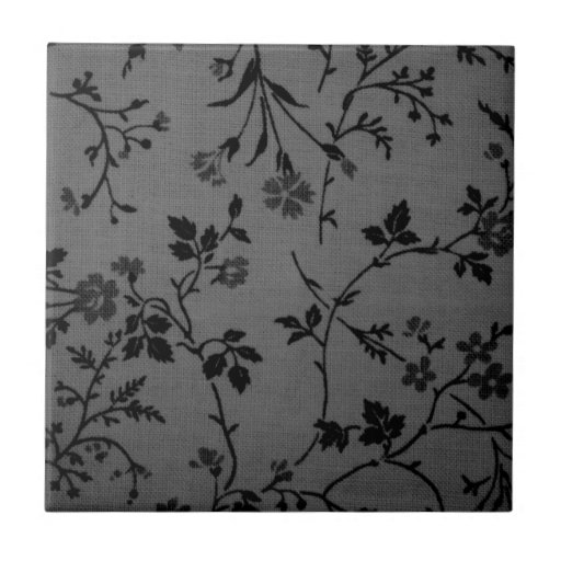 black and gray flower pattern ceramic tiles