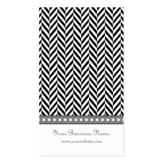 Black and Gray Herringbone Earring Cards Pack Of Standard Business Cards