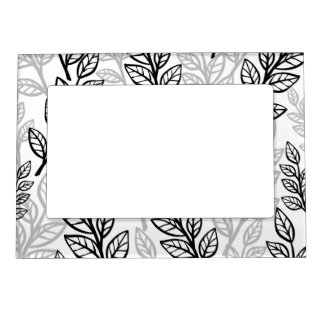 Black and Gray leaves Magnetic Photo Frame