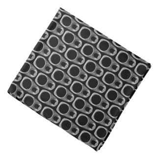 Black and Gray Pull Tabs Pattern Bandana