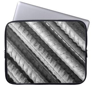 Black and Gray Rebar Neoprene Laptop Sleeve