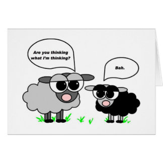 Black and Gray Sheep. Are you thinking what I'm... Card