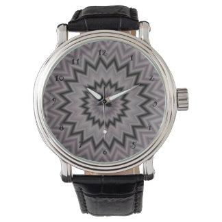 Black and Gray Starburst Watch