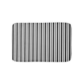 Black and gray striped pattern spring colors bath mat