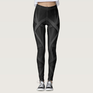 Black and Gray Workout Leggings