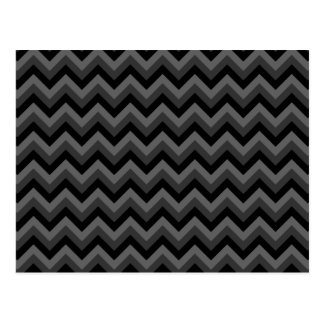 Black and Gray Zig Zag Pattern. Post Card
