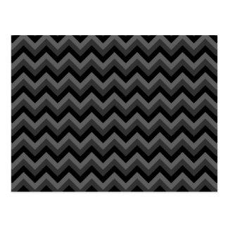 Black and Gray Zig Zag Pattern. Postcard