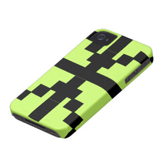 Black and green Abstract pattern theme iPhone 4 Covers