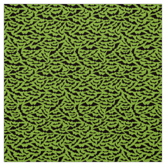 Black and green bat pattern Halloween craft fabric