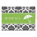 Black and Green Bridal Shower Thank You Cards