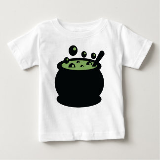 Black and Green Cooking Pot Baby T-Shirt