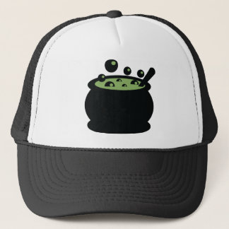 Black and Green Cooking Pot Trucker Hat