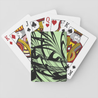 Black and Green Fern Glen Playing Cards