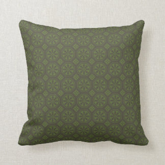 Black and Green Flowered American MOJO Pillow