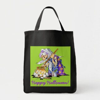 Black And Green Halloween Treat Bags Purple Witch