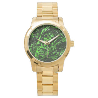 Black and Green Marble, Wrist Watch