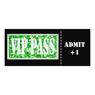 Black and Green party VIP invitation