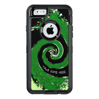 Black and Green Whirlwind OtterBox iPhone 6/6s Case