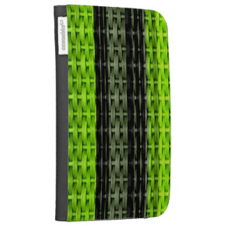 Black and green wicker art graphic design kindle keyboard cases