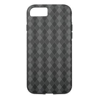 Black and grey argyle pattern iPhone 7 case