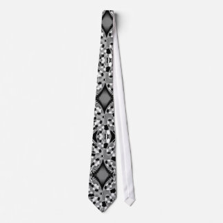 Black and Grey Broadcaster Tie