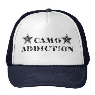 Black and Grey Camo Addiction Trucker Hat