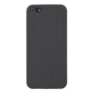 Black and Grey Carbon Fiber Polymer Case For The iPhone 5