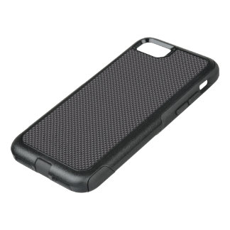 Black and Grey Carbon Fiber Polymer OtterBox Commuter iPhone 7 Case